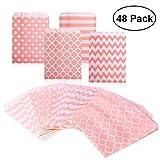 NUOLUX キャンディクッキーバッグ 装飾紙袋 48枚入り(ピンク)