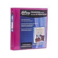 Hilroy 1.5インチメタリックポリプレゼンテーションバインダー、11-1 / 2 x 10インチ、ピンク(89098)