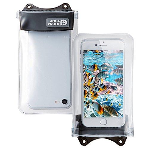 エレコム スマートフォン用防水・防塵ケース/オールクリア/Sサイズ/ブラック P-WPSAC01BK 1個