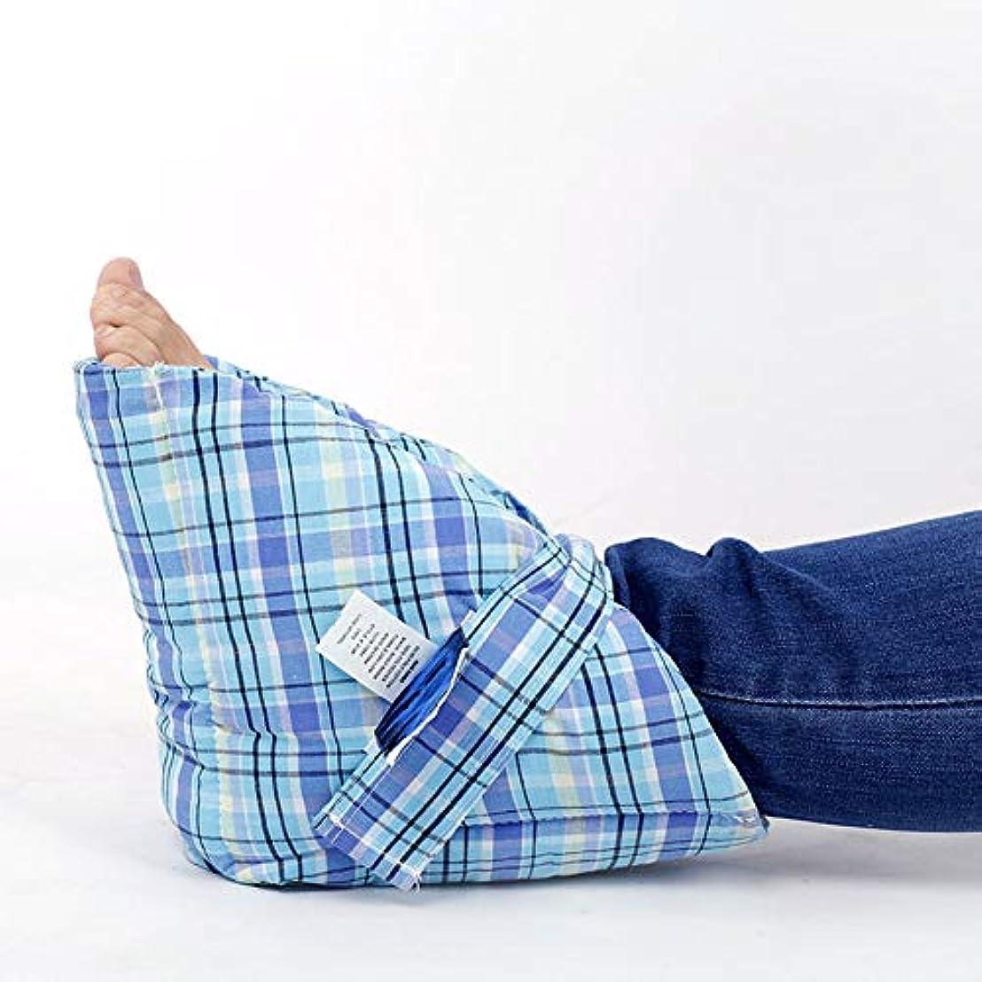 換気する折る騒乱抗床ずれヒールプロテクター枕、圧力緩和ヒールプロテクター、患者ケアヒールパッド足首プロテクタークッション、効果的な床ずれおよび足潰瘍緩和フットピロー (1PCS)