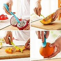 創造的な多機能フルーツ野菜ツール簡単カッターポータブルプラスチックスキンピーラー練習ツールフルーツと野菜カッター