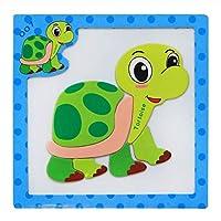 POOM24 スタイル 3D 磁気パズルジグソーパズル木のおもちゃ 15*15 センチ漫画動物交通パズルタングラム子供教育玩具子供のためのパズル 知育