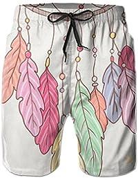 メンズ ビーチショーツ ショートパンツ フクロウプリント 水着 スイムショーツ サーフトランクス インナーメッシュ付き 通気 速乾
