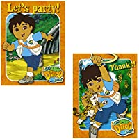 Go Diego Go Invitations and Thank You Combo (8 each) [並行輸入品]