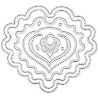 Sunsoar スクラップブック 描画テンプレート スクラップブッキング アルバム 絵図 手帳用 紙飾り用 DIY カード作り道具 ダイカットテンプレート 切り抜き紙が作れる型