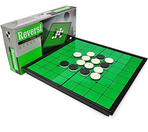 オセロ おもちゃ リバーシ ゲーム 折りたたみ ボードゲーム マグネット簡単収納 軽量 携帯便利 子供 大人 磁石 25cm×25cm