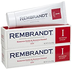 Rembrandt Intense Stain Toothpaste, Mint, 3 Ounce, 2-pack [並行輸入品]