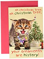 Your Ornaments are historクリスマスJokeカード 1 Christmas Card & Envelope (SKU:1978)