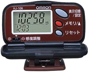 オムロン(OMRON) 歩数計 ヘルスカウンタ ステップス グレープレッド HJ-106-R