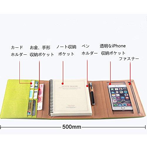 Homehalo ビジネス手帳 A5 多機能 多収納 システム手帳 カバーノート iPhoneに対応可能 シンプルなデザイン A5用紙 (グレー)