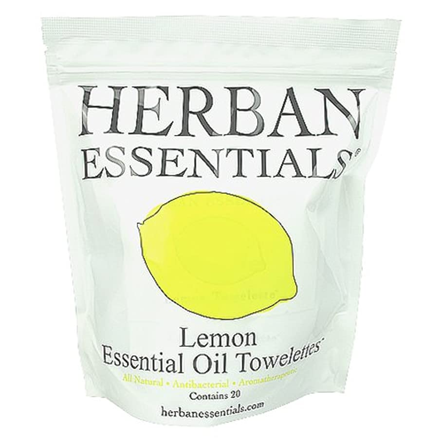 瞑想的馬力ミネラルハーバンエッセンシャルズ HERBAN ESSENTIALS アロマタオル レモン 20包