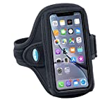 Tune Belt Armband for iPhone 11, 11 Pro Max, Xs Max, Xr, 7/8 Plus, Samsung Note 8 9 10 10+, Galaxy S8+ S9+ S10+, Google Pixel 3XL, 3a XL - for Running & Working Out - Sweat-Resistant [Black]
