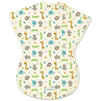 Summer Infant ComfortMeウェアラブルブランケット、Sketchy Safari、L
