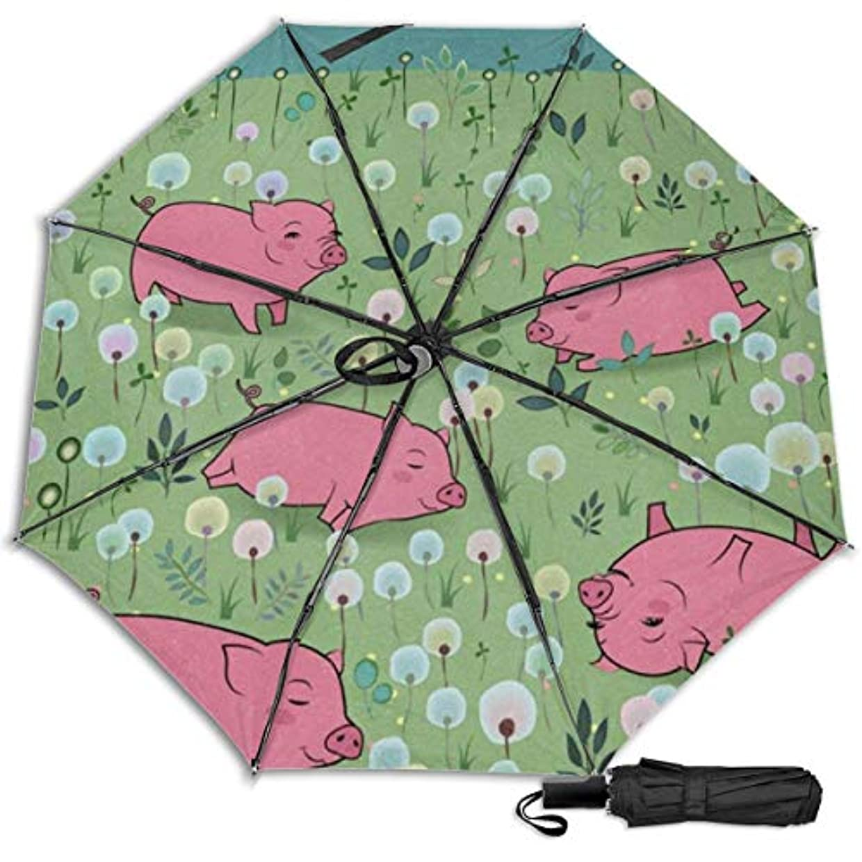 ジョブアヒル祖父母を訪問開花フィールドに幸せなピギー日傘 折りたたみ日傘 折り畳み日傘 超軽量 遮光率100% UVカット率99.9% UPF50+ 紫外線対策 遮熱効果 晴雨兼用 携帯便利 耐風撥水 手動 男女兼用