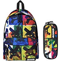 Bonne Backpack with Matching Pencil Case Value Pack - Unisex Design X-Eyes