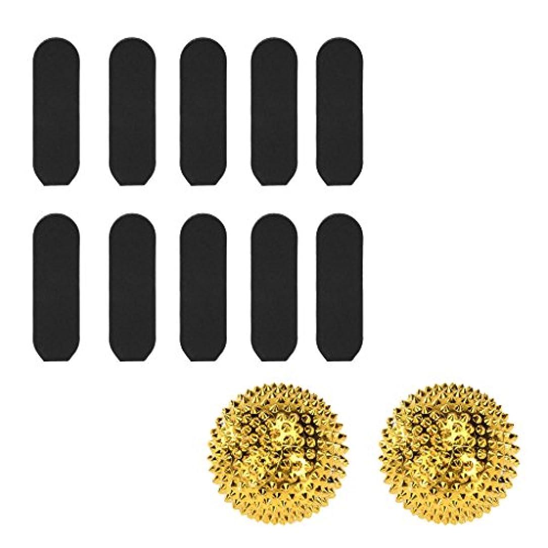 貫通赤字調停者Baoblaze マッサージ用 刺激 ボール 快適 +  10枚 サンドペーパー デッド スキン カルス リムーバー ツール
