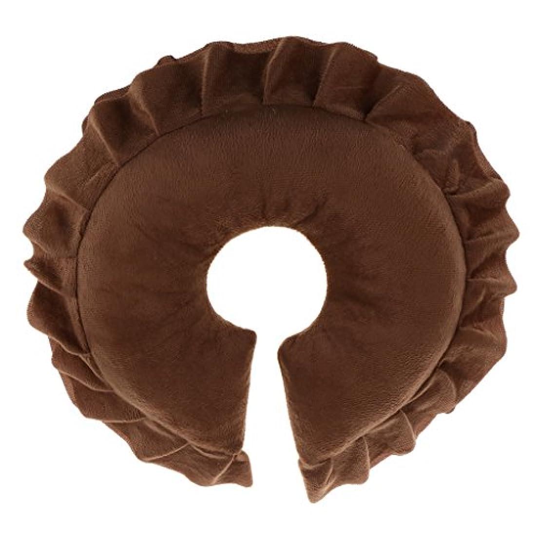 影のある回転ドリルサロン オフィス 顔、首、頭 クッション マッサージ 枕 洗濯可能カバー 全6色 - コーヒー