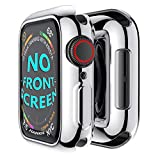 Hankn for Apple Watch Case 44mm Series 5 Series 4, Plated Soft TPU Anti-Scratch Shockproof Protective Screen Slim Iwatch Shell Cover Thin Protector Bumper - Silver