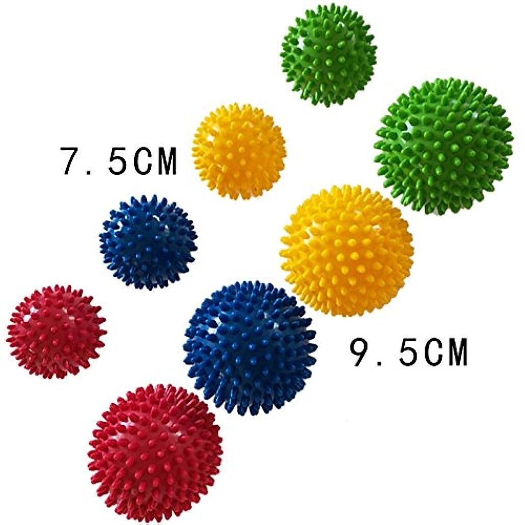 傷つきやすいキートランザクションRaiFu スパイキーフットマッサージボールマッサージローラーボール、足底筋膜炎&マッスルリラクゼーションセラピー - カラーランダム