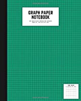 graph paper notebook: 8x10 cute graph paper journal | cool graph paper notebook college ruled | 5 quad ruled, 108 pages | 5x5 graph ruled composition notebook | graph paper varidian color