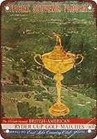 Shimaier 壁の装飾 ブリキ 看板メタルサイン 1963 Ryder Cup East Lago Atlanta ウォールアート バー カフェ 20×30cm ヴィンテージ風 メタルプレート