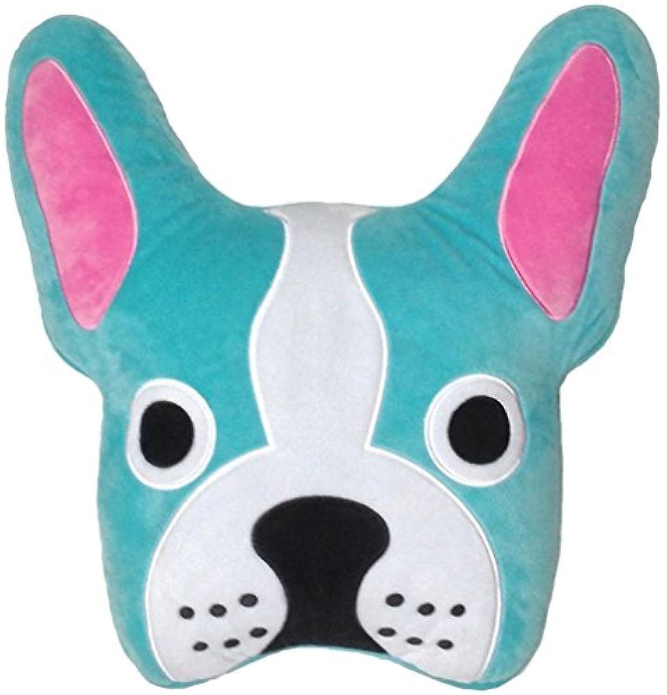 [iscream]iscream French Bulldog Embroidered Fleece Microbead Pillow 780-618 [並行輸入品]