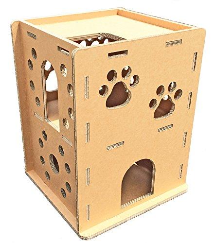 3層強化ダンボール製 猫が選んだ『ニャンだ!!ハウス』
