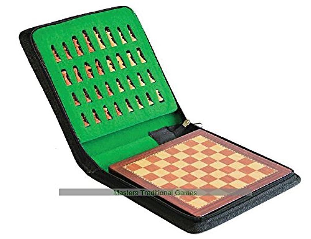 マント関連するアーサーLasker社 磁石式チェスセット、キャリーケース付(25 x 25cm)