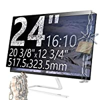 Xianan スクリーンプライバシーフィルター 16:10プライバシースクリーンプロテクター アンチグレアモニターフィルター