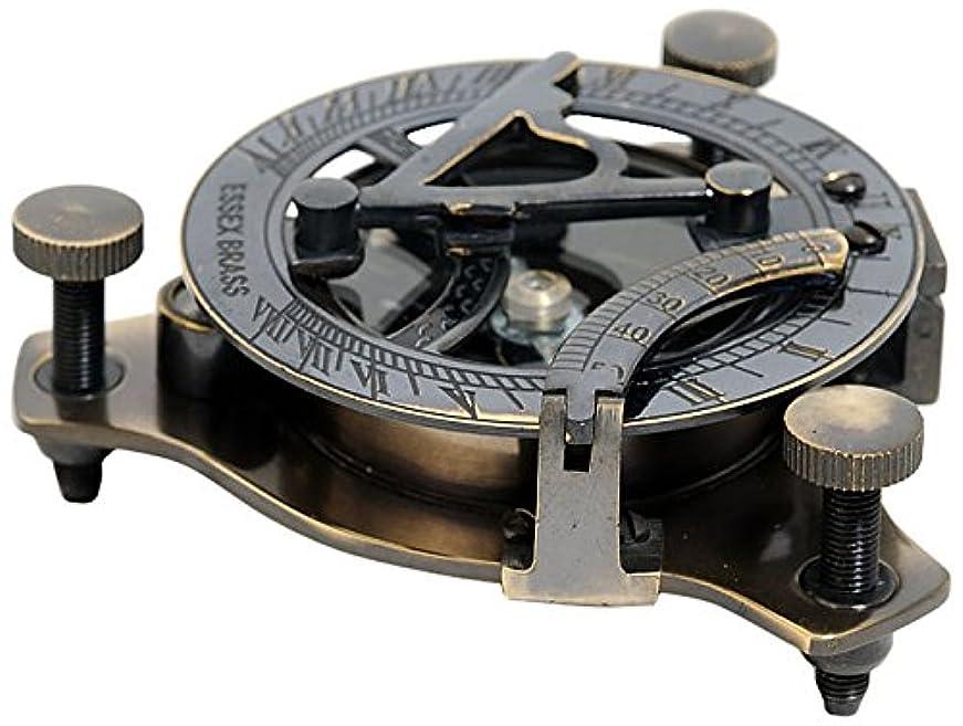 書く主要な任命古いモダンHandicraft日時計コンパスin木製ボックス