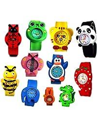 子供腕時計 男の子 女の子 キッズ 腕時計 曲げ可能なウォッチ 可愛い 3D動物 知育 幼稚園 小学生 入園 入学 卒園 卒業祝い