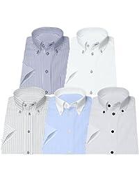 (ビジネススタイル アルフ) businessstyle alfu 半袖 ワイシャツ 5枚セット 形態安定 ビジネスYシャツ クールビズ/sa02al