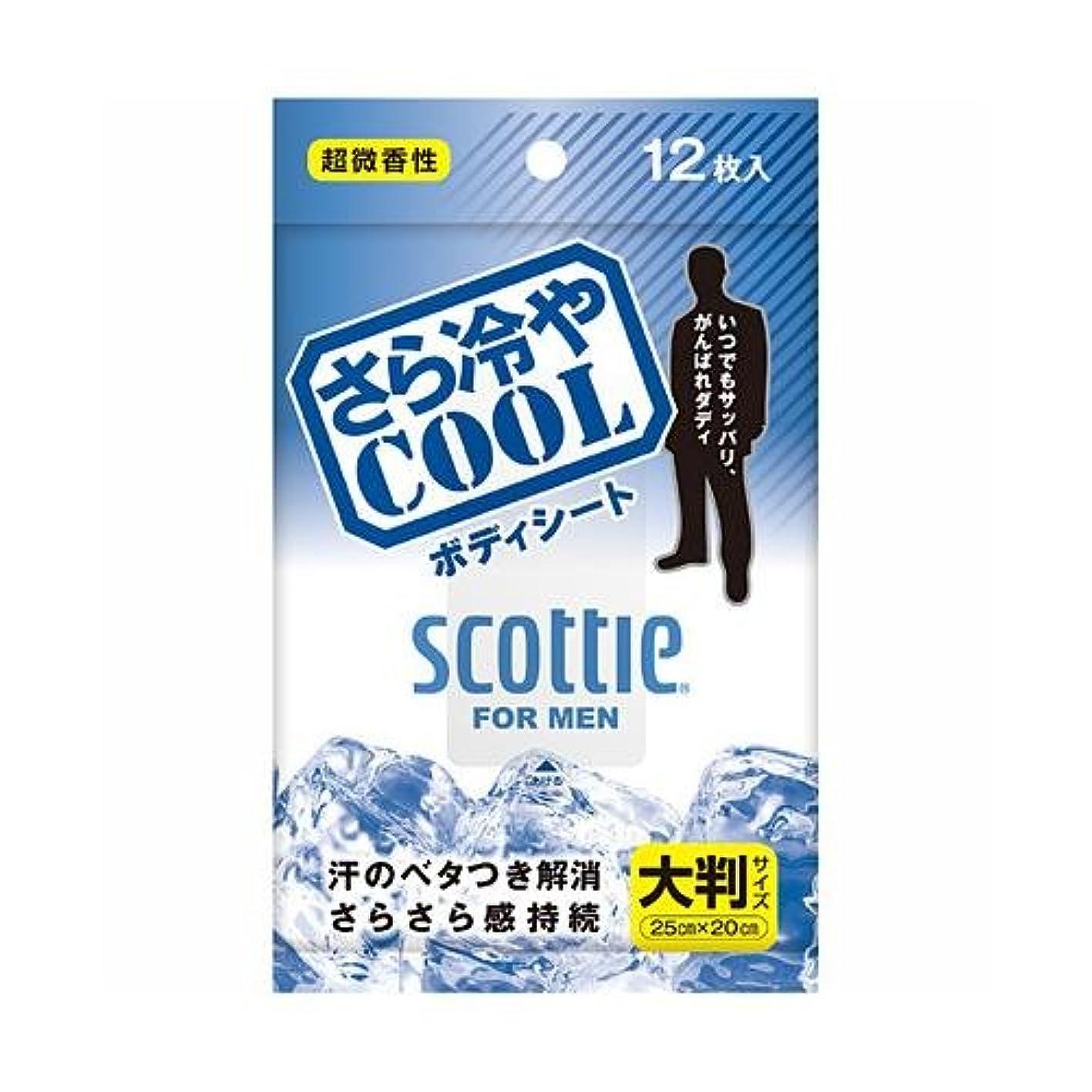 クラウン好意ジャンプするスコッティ さら冷やCOOL ボディシート 12枚入