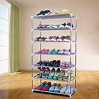 シェルフ_シンプルな靴のラックを広げる多機能ストレージラック、多層防塵靴キャビネット大容量(5/7層)