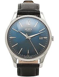 (ヘンリーロンドン) HENRY LONDON ヘンリーロンドン 時計 HENRY LONDON HL39-S-0031 KNIGHTSBRIDGE ユニセックス腕時計 ウォッチ ブラック/シルバ-/ブル- [並行輸入品]