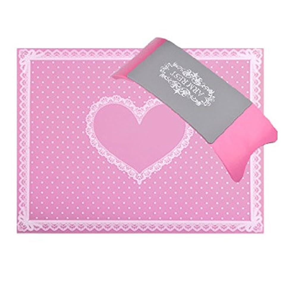 インタフェーステスピアン結婚したネイルマット&アームレストSET 全5色 BY-MASET (ピンク)
