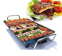 多機能電気グリル屋内熱い鍋、温度調節器が付いているバーベキューの電気ベーキング鍋の焦げ付き防止のバーベキューの韓国のバーベキュー鍋、48 * 28CM