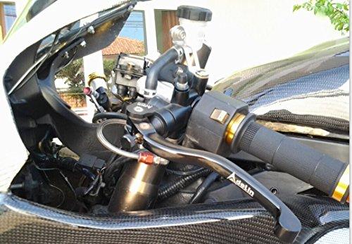 ブレーキ・クラッチマスターシリンダー ラジアルポンプ ロング 汎用ピストン径 φ17.5*18mm 汎用 グレー CBR600RR 1000RR, GSXR600 750 1000, R1 R6, ZX-6R ZX-9R ZX-10R