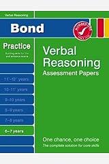 Bond Starter Papers in Verbal Reasoning 6-7 Years Paperback