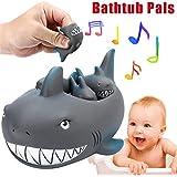 Starabu Baby Floating Bath Tub Toy Rubber Shark for Family Bathtub