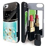 iPhone8 iPhone7 iPhone6 iPhone6s ケース tpu ミラー付き コスメ 香水柄 香水 オーシャン カードケース コスメ柄 貝 アイフォン8 アイフォン7 アイフォン6 アイフォン6s カバー 香水ボトル iPhoneケース