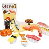 YIGO おままごと おもちゃ お寿司 エビ カニ 魚 キッチン おもちゃ 知育玩具 子供親子ゲーム プレゼント ままごと ごっこ遊び 女の子 男の子 スティッキー 12点セット