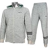 adidas アディダス ネオ 粗挽き杢 スウェット ジャケット パンツ 上下 DKJ86 BQ6295 DKJ87 BQ6290 チョークホワイト (L)