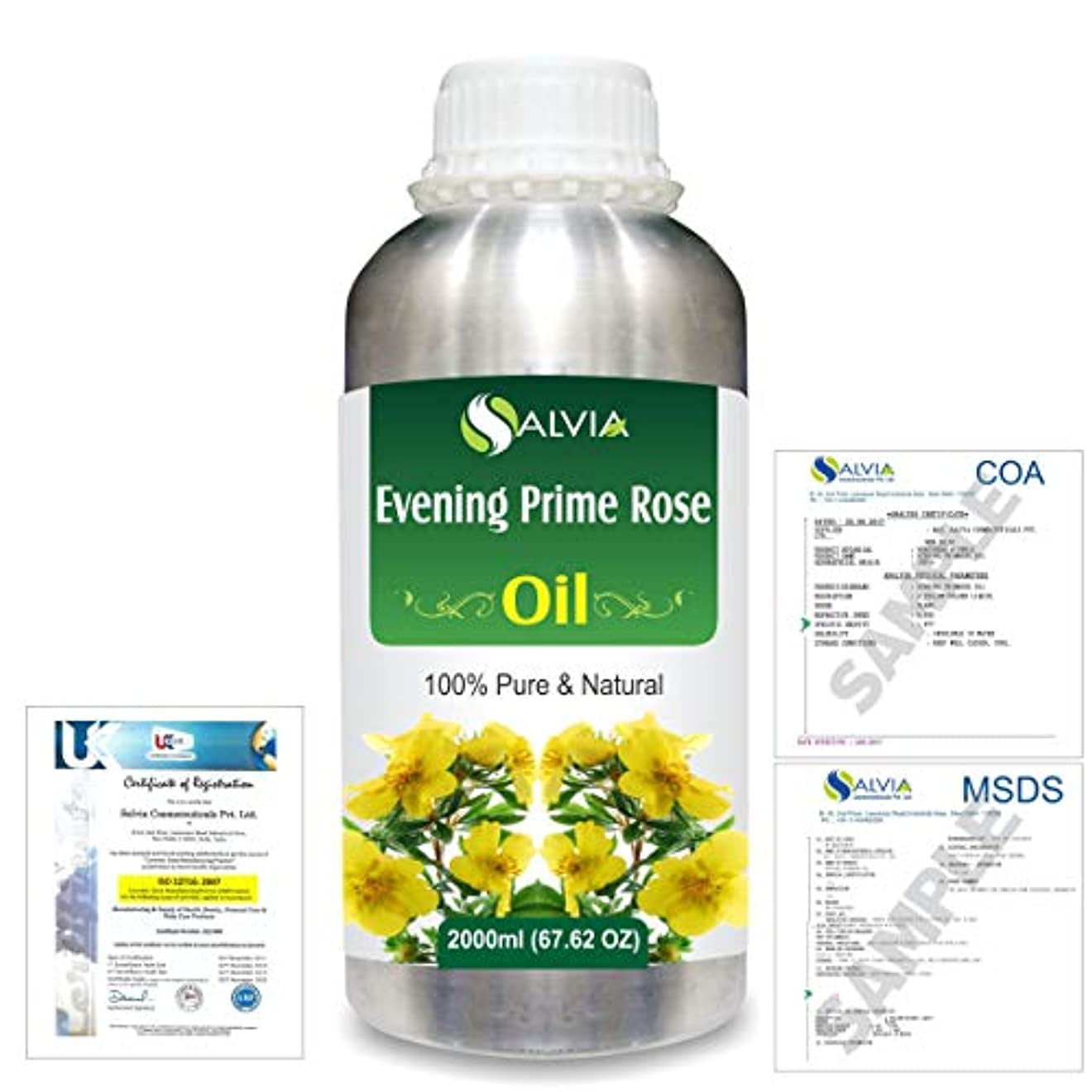 証明する物質植木Evening Prime rose 100% Natural Pure Essential Oil 2000ml/67 fl.oz.