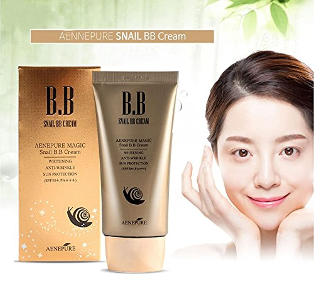 パノラマ皮ちょうつがい[Aenepure] カタツムリBBクリームSPF50の+、PA +++ / Snail BB cream SPF50+, PA +++ / ホワイトニング、アンチリンクル、日焼け防止 / Whitening, Anti-Wrinkle,Sun protection / 韓国化粧品 / Korean Cosmetics [並行輸入品]
