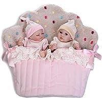 NPK 2個Rebornベビー人形Fullシリコンビニールモデル人形少女と少年11インチリアルな新生児赤ちゃん人形So Truly Can Bathe With Sleepingバッグ