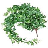 フェイクグリーン 人工観葉植物 造花グリーン 壁掛け 吊りのインテリア飾りフェイク植物 枯れないツタアイビー