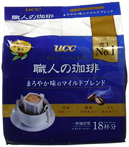 UCC 職人の珈琲 ドリップコーヒー まろやか味のマイルドブレンド 18P×2個