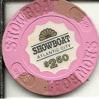 $ 2.50 Showboat BoardwalkカジノチップAtlantic City Obsoleteヴィンテージ
