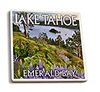 Lake Tahoe、カリフォルニア–エメラルドベイ 4 Coaster Set LANT-41032-CT